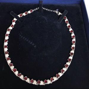 Swarovski Jewelry - AUTHENTIC SWAROVSKI SS RUBY SIMULATED CHOKER EUC